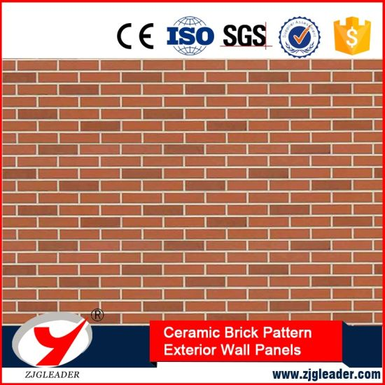 China Waterlight Ceramic Brick Pattern Exterior Wall Decorative ...