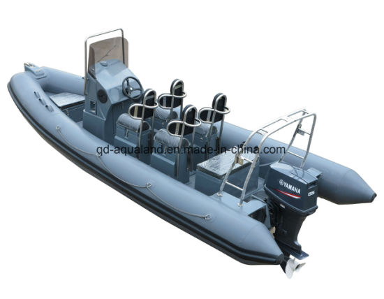 China Aqualand 16feet-33feet 4.8m-11m Fiberglass Rigid Inflatable Boat/Rib Motor Boat/Military /Rescue Boat (rib580t-rib1050) pictures & photos