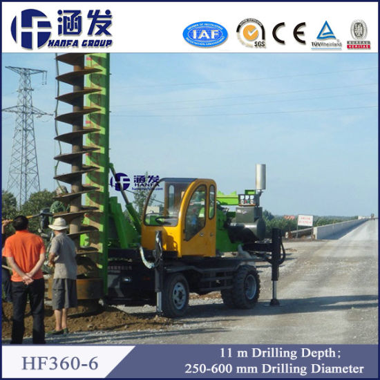 High Efficiency, Hf360-6 Small Spiral Drilling Rig for Piling pictures & photos