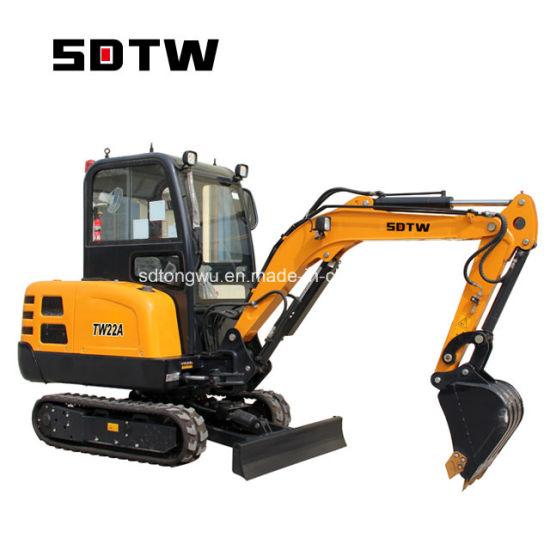 Tw22A Sdtw Mini Excavator 2200 Kg Excavator Zero Tail Small Excavator