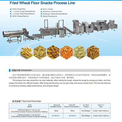 Best High Quality Industrial Fried Snack Foods Production Line pictures & photos