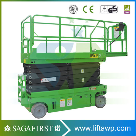 Sinofirst 12m Electric Aerial Scissor Lift Self Propelled Work Platform pictures & photos