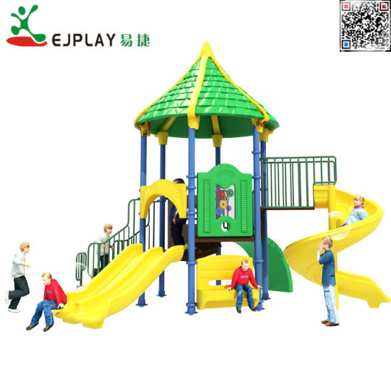 Amusement Park Equipment with Combind Slide for Kids in 3-12 Years Old