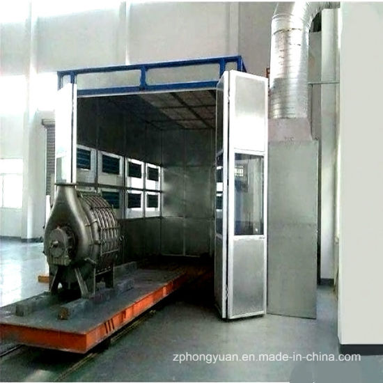 Bus Paint Spray Booth with Ground Rail for Sale