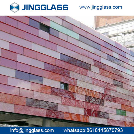 Colorful Digital Ceramic Frit Flat Glass Panes Tempered Children Hospital pictures & photos