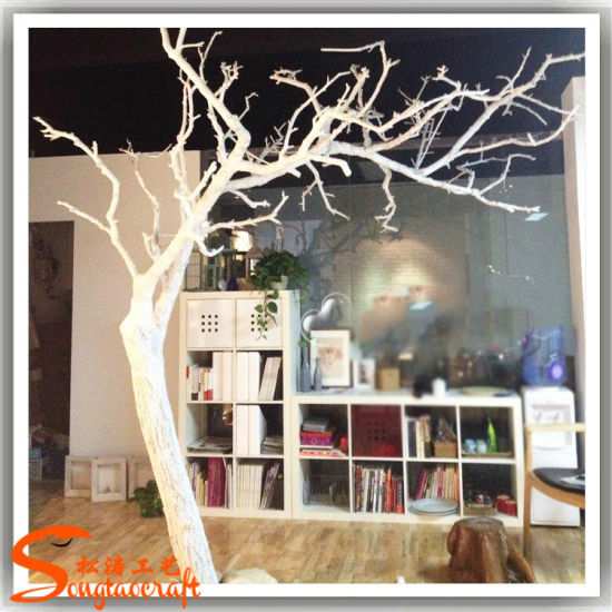 Home Decor Artificial White Dry Tree Made Of Fibergl Wt12