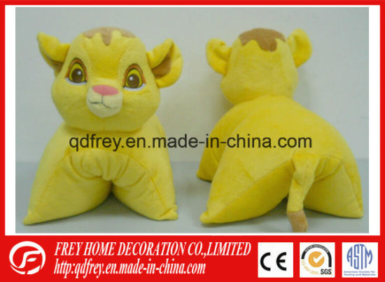 Soft Promotion Gift of Plush Tiger Toy Cushion