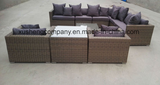Modern Home/Hotel Aluminum Rattan Lounge Set Garden Outdoor Furniture pictures & photos