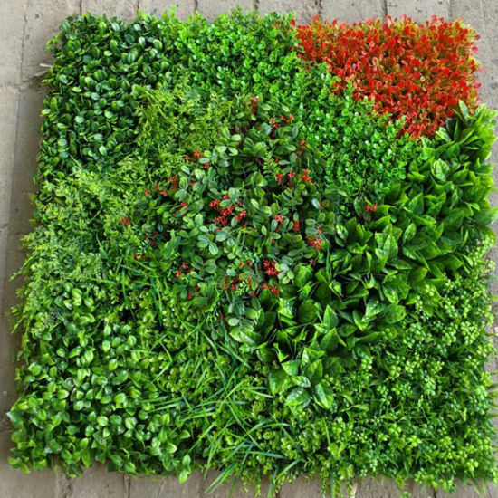 china artificial plant foliage leaf green wall vertical garden for