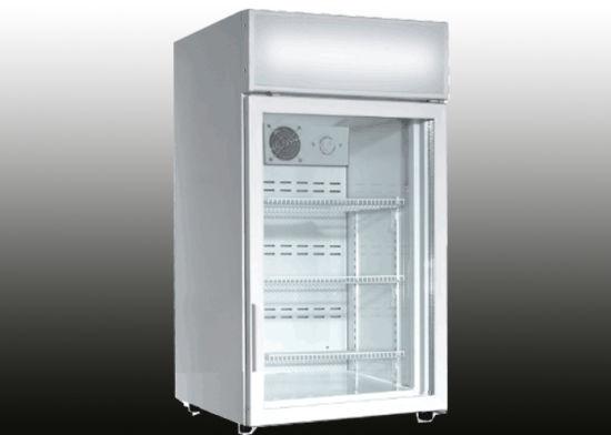 China White Body Glass Door Mini Fridge China Refrigerator Cooler