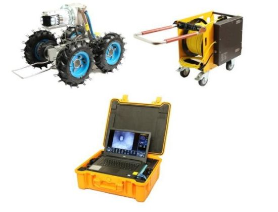 Pipe Inspection Robot Camera with 90mm Lens, 14 Inches LCD, 100m Testing  Cable
