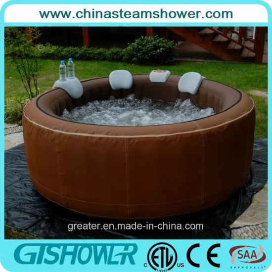 Easy Set up Round Inflatable out Door SPA (pH050010 Brown) pictures & photos