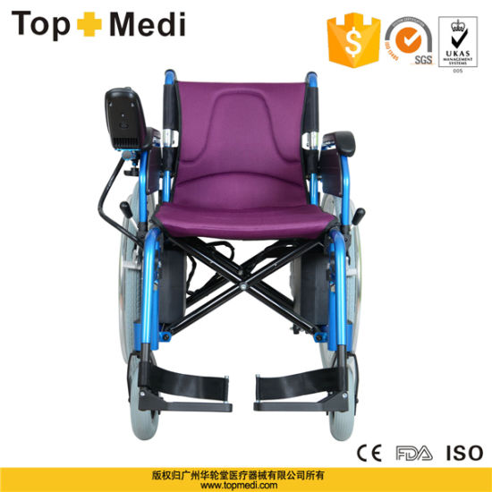 Aluminum High Quality CE Certificated Power Electric Motor Wheelchair pictures & photos