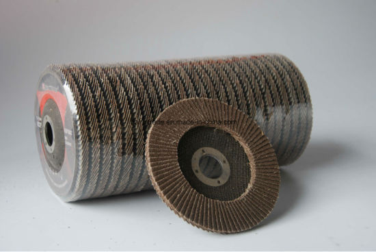 4.5inch/115mm Good Performance Use Abrasive Flap Disc pictures & photos