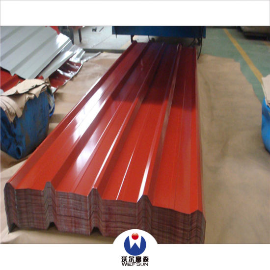 Color Coated Corrugated Prepainted Steel Building Material Color Roofing Sheet