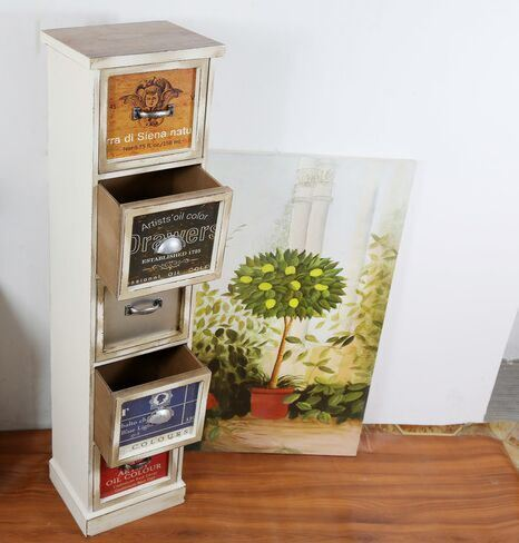 European Style Wood Drawers Chest Storage Cabinets Lockers Wooden Home Furniture