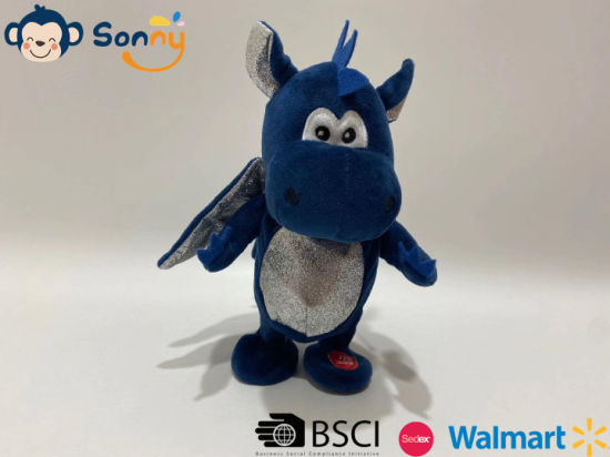 Wholesale Plush Dragon Toy Kids Stuffed Dragon Gift Voice Recording & Repeating and Walking Dragon