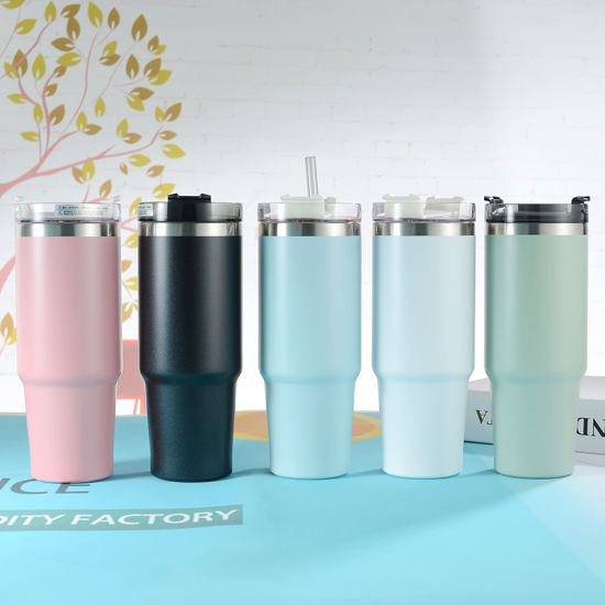 Customized Print Mug Stainless Steel Tumbler Cup Thermos with Lid
