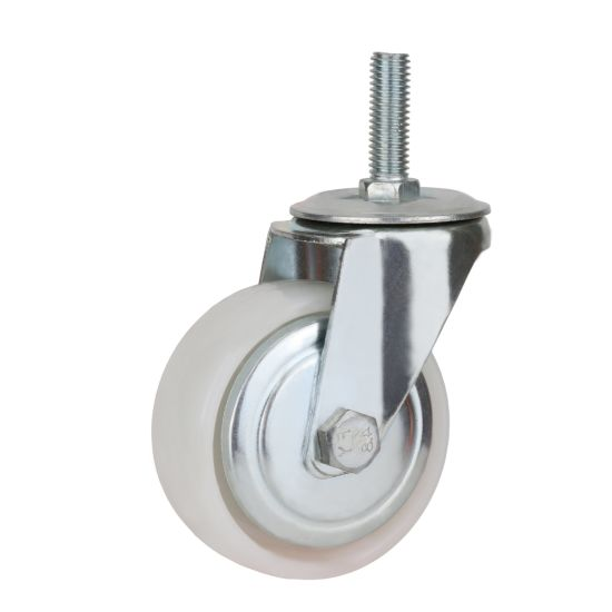White PP Wheel Swivel Caster, with Scerw