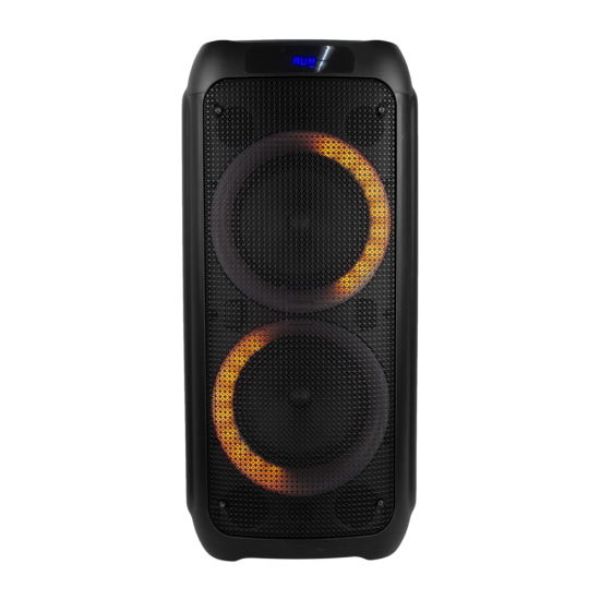 New Design Privated Mold Double 8 Inch 80W Bluetooth LED Light Party Box Audio Speaker