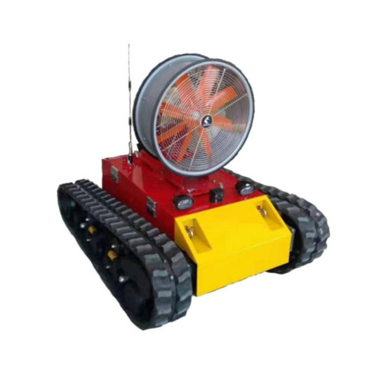 Multifunctional Remote Control Rubber Tracked Chassis Fire Extinguisher Fire Water Pump Fire Fighting Robot