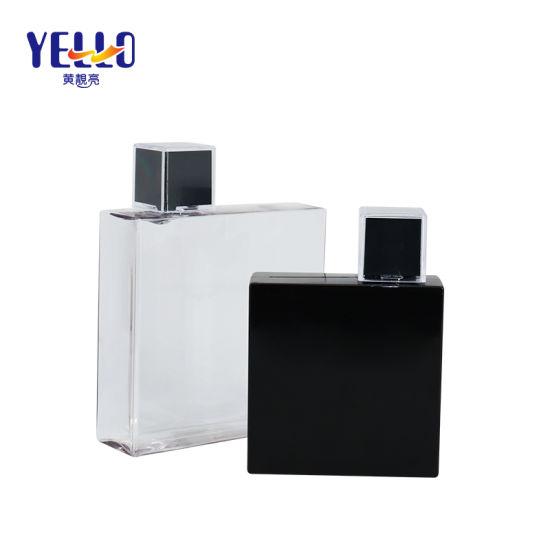 Square 200ml 350ml Cosmetic Packaging PETG Plastic Shampoo Dispenser Bottle