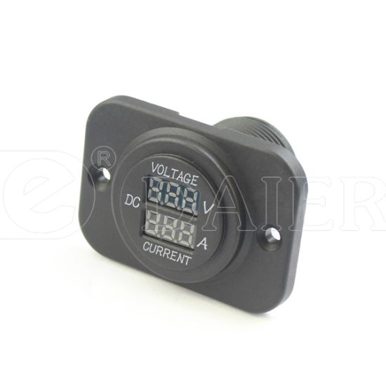 Daier Dual Port Car DC 12-24V Digital Ammeter&Voltmeter (DS8110)
