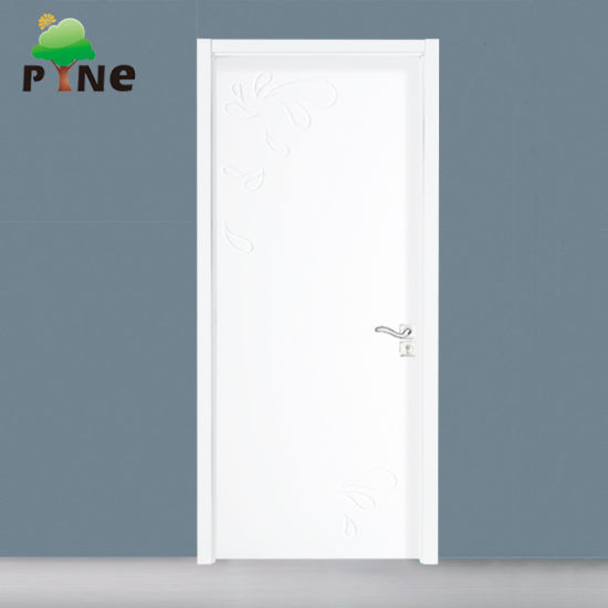 Modern Teak Wood White Color Painted Bedrooms Doors Designs