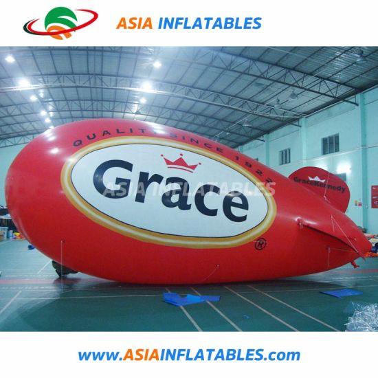 5m Custom Giant PVC Helium Inflatable Blimp Helium Red Balloon
