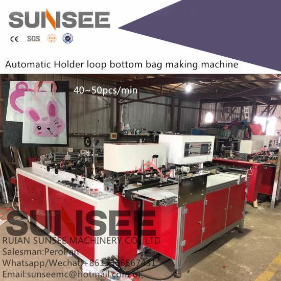 Full Automatic Bottom Sealing Handle Shopping Bag Machine