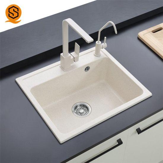 China Acrylic Solid Surface Undermount Corner Kitchen Sinks ...