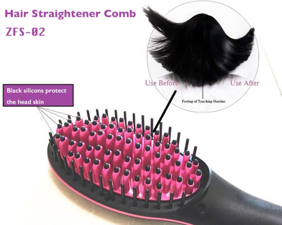 White Color Hair Straightener Comb for Personal Care
