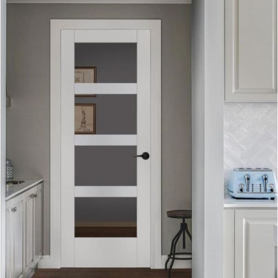 Hot Sale Assemblly Solid Wood Interior Doors with Glass/Mirror
