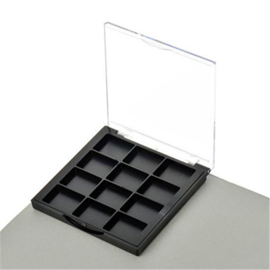 Unique Shape 12 Color Plastic Eyeshadow Palette Case Compact Box Cosmetic Packaging