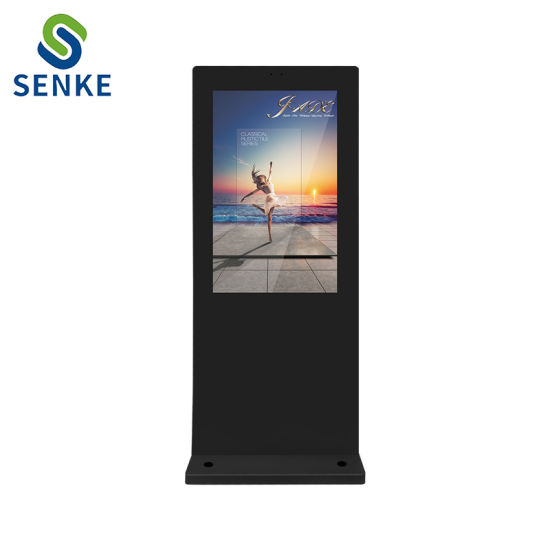 55 Inch Floor Standing High Brightness LCD HD Outdoor Advertising Media Monitor Android Digital Signage Ad Player pictures & photos