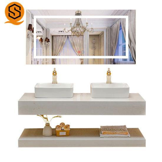 China Modern Style Single Sink Bathroom Vanity Double Wash Basin