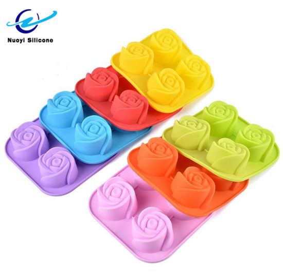Food Grade Silicone Flower Shaped Cake Baking Molds