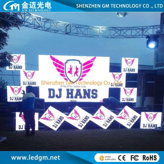 Indoor Outdoor Use P4.81mm HD Full Color Rental LED Display Screen