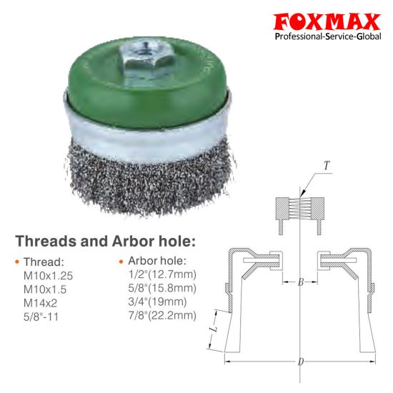 High Quality Cup Wire Brush (FM-WB010) pictures & photos