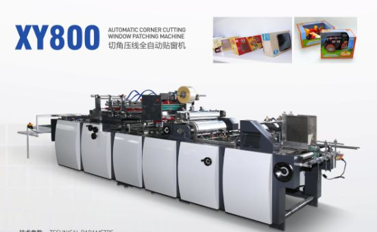 Xy-800 V-Cut Window Patching Machine for Paper Box
