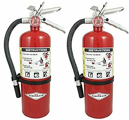 Dry Chemical Portable Fire Extinguisher - 2 Pack