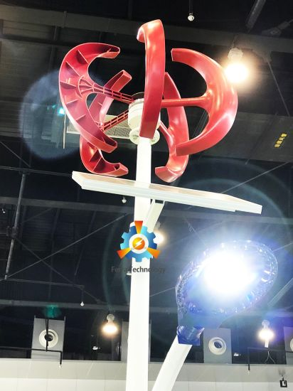 200W Low Wind Start Lantern Type Vertical Axis Wind Turbine (VAWT) pictures & photos