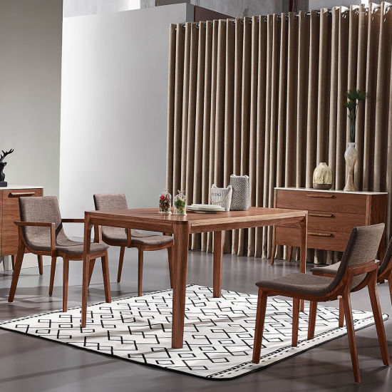 1.4m Small Size Dining Table Veneer Top Apartment Furniture ...
