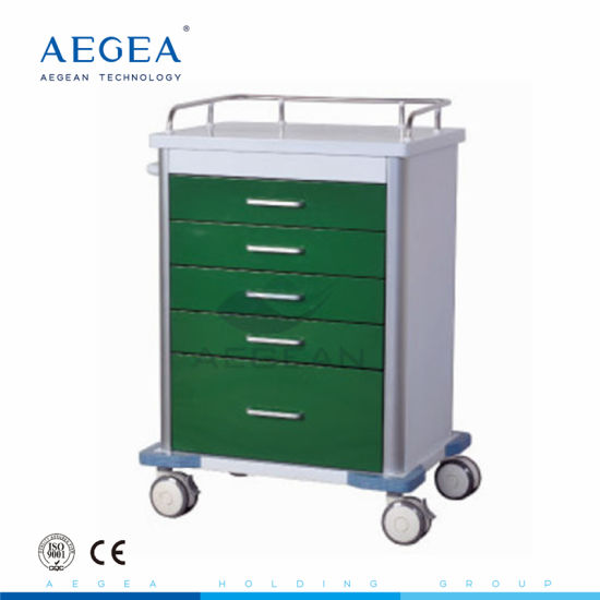 AG-GS001 High Quality Medical Emergency Hospital Trolley Cart with Drawers