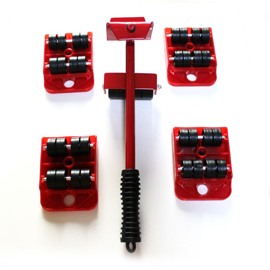 Furniture Mover Set 5 Pieces Heavy Weight Remover Tool with Universal Roller Base pictures & photos