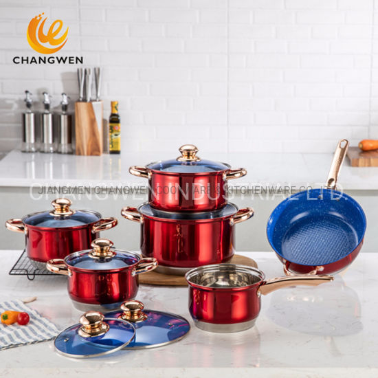 Wholesale Stainless Steel Non Stick Kitchen Utensil Cooking Cookware