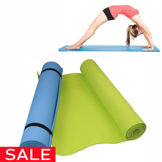 6mm Thick PVC Comfort Foam Yoga Mat for Exercise, Yoga, and Pilates Can Add Strap and Paper, Customize Package