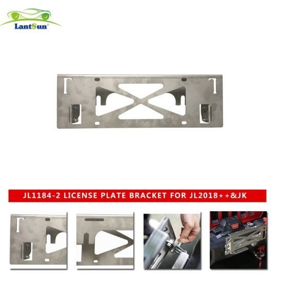 Jl1184-2 License Plate Bracket Is Suitable for Wrangler Jl2018+ and Jk2007-2017 Stainless Steel License Plate Frame pictures & photos