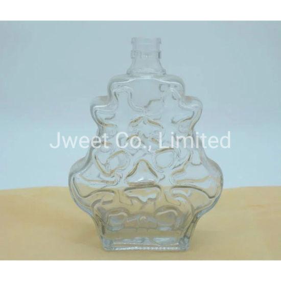 1.5L Irregular Shape Sand Blasting Sake Glass Bottle