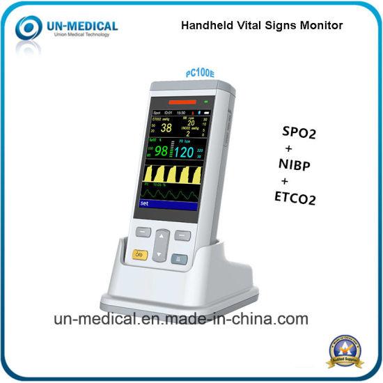 2018 Portable Etco2 Capnography Pulse Oximeter Monitor PC100e
